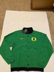Nike Oregon Ducks Light weight Jacket Button Green/Yellow NWT