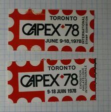 Capex Exhibition 1978 Toronto Canada Philatelic Souvenir Ad Label