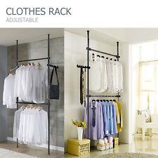 Adjustable Coat Garment Clothes Rack DIY Hanger Flexible Wardrobe Rack Black AU