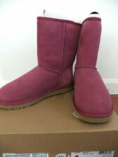 AUTH UGG Australia Women's Classic Short Boots Size 7 in Pink NIB