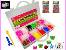 Loom Bands loom Bänder Gummi Armband mit Webrahmen u. Webhaken Gummibänder Set