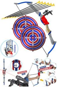 Bow and Arrow Toy for Kids Outdoor Archery Set Boys Girls Playset with Targets