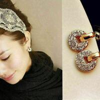 1 Paar Mode Damen Lady Elegant Kristall Rhinestone mode Ohrringe Stud Ear D5H4
