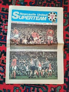 NEWCASTLE UNITED V FOREST EVENING CHRONICLE NEWSPAPER 9th MARCH 1974