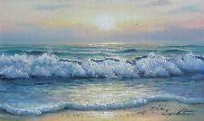 "Original Oil Painting By J. LITVINAS ""SEA FOAM"" 10X6 INCH"