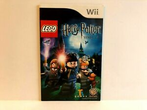 Lego Harry Potter Years 1 - 4 Nintendo Wii MANUAL ONLY Authentic  FRENCH