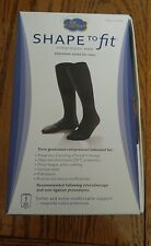Dr Comfort Shape to Fit For Men 20-30 MMHG Nylon with Spandex. SMALL. BLACK