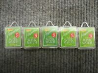 5 x boxes of 10 fox super match fine wire, micro barb spade end hooks size 24