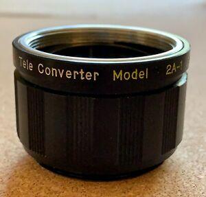 Vivitar Auto 2X Tele-Converter Lens Model 2A-1 for Pentax M42