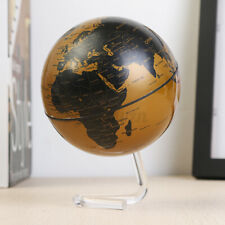 4 in Rotating World Globe Earth Educational Geography Kid Gold Home Table Decor