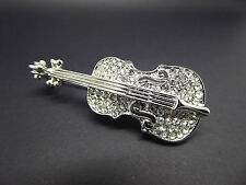Rhinestone Violin Brooch,Beautiful,Gift Idea,Jewellery,Fashion,Music,Gorgeous