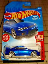 2018 Hot Wheels NISSAN SKYLINE GT-R R33 Blue Then and Now