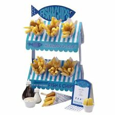 Talking Tables Street Stall Fish and Chip 2-Tier Stall Stand Party Food Display
