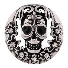 Button Click Druckknopf 7369 Skull Totenkopf  - kompatibel Chunk Armband