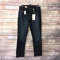 womens LEVI'S Blue Denim Jeans Mid Rise Skinny Leg 6 Short P9