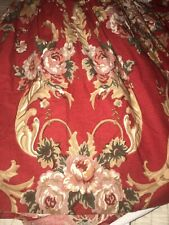 Ralph Lauren Queen Size Cotton Bed Skirt Retired Red Gold