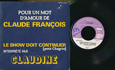 """CLAUDINE 45 TOURS 7"""" BELGIQUE POUR UN MOT D'AMOUR DE CLAUDE FRANCOIS"""