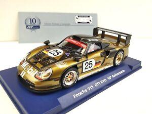 Slot Car Scx Scalextric Fly 96084 A-2003 Porsche 911 GT1 Evo 10º Anniversaire