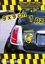 adesivo adesivi abarth stickers tuning scorpione auto fiat500 moto GIALLO YELLOW