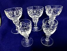 3 sherry port glasses 2 cordials CUT Crystal Maastricht Holland stemware