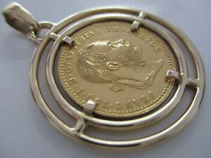 Münzen ANHÄNGER 585 Gold 916 (22K) Österreich Imperator 7,90 Gramm Gebraucht