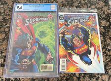 Superman Man of Steel #0 CGC 9.6 & High Grade Raw Adventures Of Superman #0