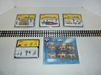 LIONEL AND MTH PLATFORM KITS CAMPING,FISHING,CANOEING,DEER ALL MINT 5 UNITS
