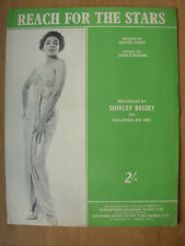 VINTAGE SHEET MUSIC - REACH FOR THE STARS - SHIRLEY BASSEY