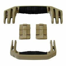 New Pelican Tan 1510 / 1560 replacement latches (2) & handles (2) kits.