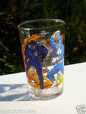 👿 Verre A Moutarde Power Rangers Blue Ranger Billy Vintage Hauteur 10 Cm 1994