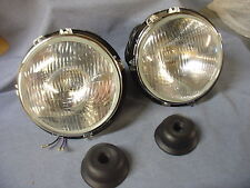 NEW TRIUMPH TR4 TO TR6 TR250 HALOGEN HEADLAMPS X 2 LHD EUROPEAN