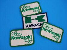 X4 Vintage KAWASAKI Motorcycle Green Hat or Jacket Patches!