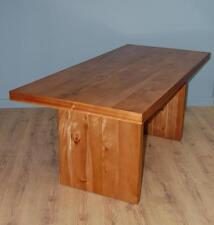 Contemporary Panel Leg Chunky Kitchen / Dining Table Seats 8