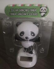 Solar Powered Dancing Toy Bobblehead Panda Bear
