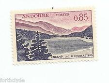 French Andorra Stamp Scott #152 1961 Encamp Lac D'Engolasters 85c mint ref 209