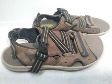 Clarks Wave Walk Mens Brown Leather Strap Sandals Size 10M