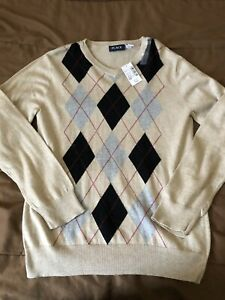 NWT Boys Pullover V Neck Beige Size L