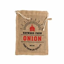 Jute Fibre Onion Lined Storage Bag/Sack with Drawstrings