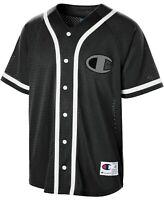Champion Men's C-Life Mesh Baseball Jersey Black Size Large