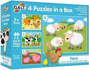 Galt - 4 Puzzles in a Box - Farm