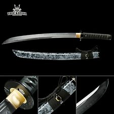 Hand Forged Full Tang Short Naginata Samurai Swords With Granite Style Scabbard