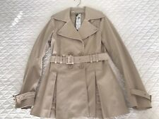 PATRIZIA PEPE FIRENZE Beige Double Breasted Trench Jacket Size 42