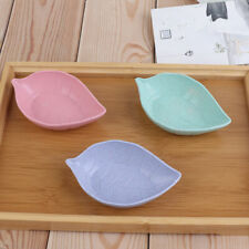 Leavess Dish Baby Kid Bowl Wheat Straw Soy Sauce Rice Plate  Tableware Conta ye