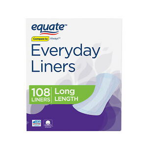 Equate Everyday Liners Reliable Women Protection Napkins, Long, 108 Count