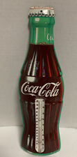 "Coca Cola Bottle Thermometer Metal Sign Coke 16"" Donasco Made USA Vintage"