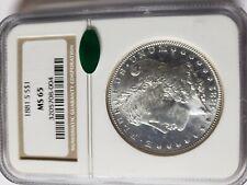 1881-S Morgan Silver Dollar - NGC MS-65 CAC