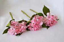 Artificielle rose hydrangea tige x 3