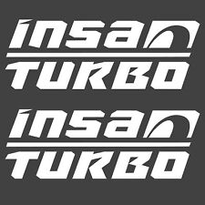 INSA TURBO X2 PAIR STICKERS WHITE GRAPHICS DECAL STICKER OFFROAD 4X4