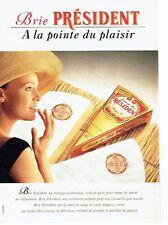 PUBLICITE ADVERTISING 0217  1993    le fromage Brie Président