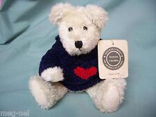 Boyds Bears Plush  ~Samuel  Adams ~ Blue Sweater with Heart New   Bear